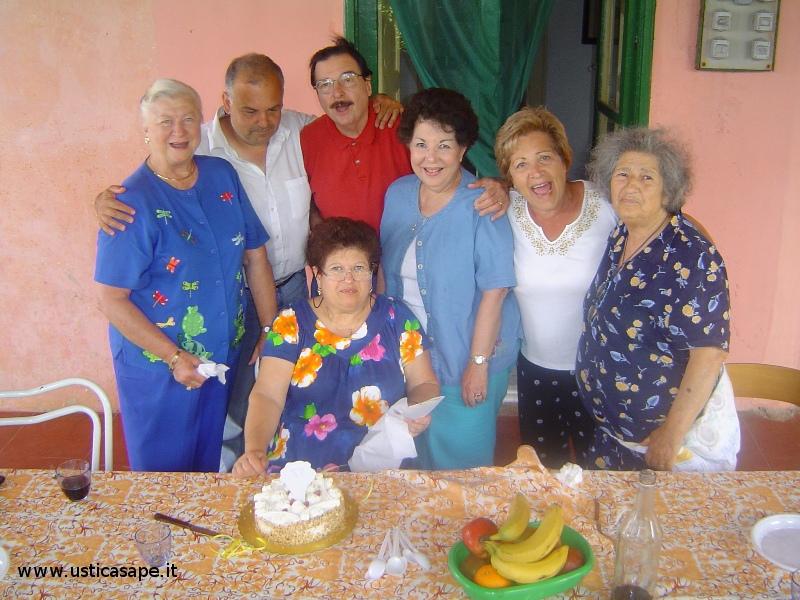 Italo Americani in casa Natale per festeggiare compleanno