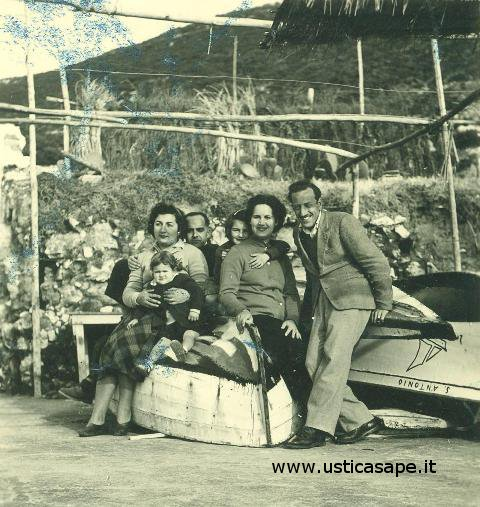 Ustica, foto con Gennaro Gisonna