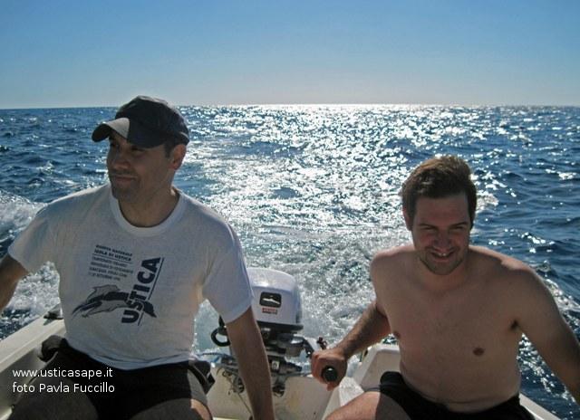 Ustica, giro, Isola, barca
