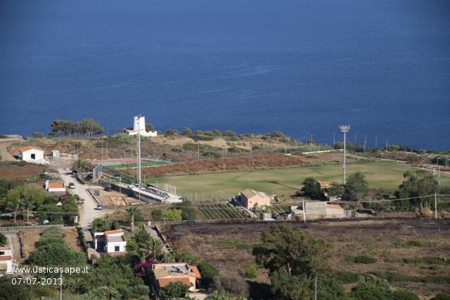 Ustica, zona campo sportivo