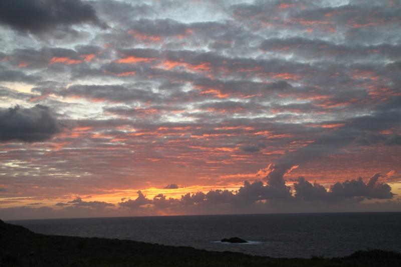 Ustica, curioso tramonto
