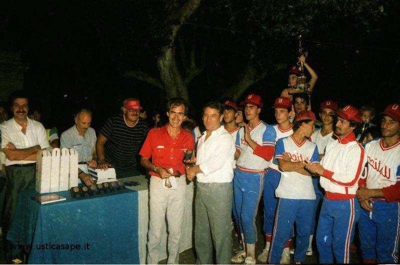 Ustica baseball, premiazione
